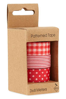 DEVA DESIGNS Patterned tape triple pack 3x8m