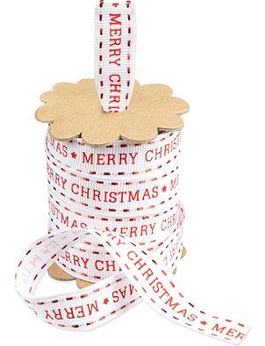 DEVA DESIGNS Red white christmas ribbon
