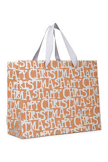 CHRISTMAS 'Happy Christmas' medium sized gift bag