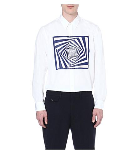DRIES VAN NOTEN Corbin graphic-print shirt (White