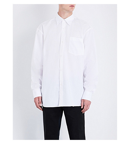 DRIES VAN NOTEN Cliff regular-fit cotton shirt (White