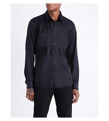 DRIES VAN NOTEN Curleybis cotton-blend shirt (Navy