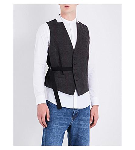 DRIES VAN NOTEN Gilmo checked wool waistcoat (D+brown