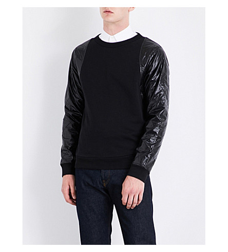 DRIES VAN NOTEN Helmy quilted cotton-jersey sweatshirt (Black