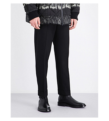 DRIES VAN NOTEN Philip straight regular-fit wool trousers (Black