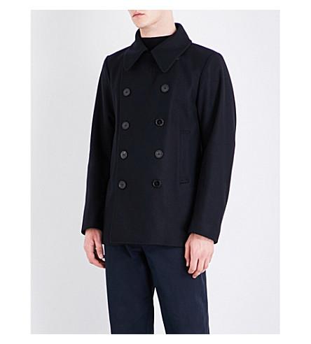 DRIES VAN NOTEN Rodrique double-breasted wool coat (Navy