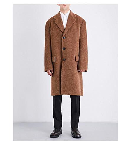 DRIES VAN NOTEN Oversized wool-blend coat (Brown