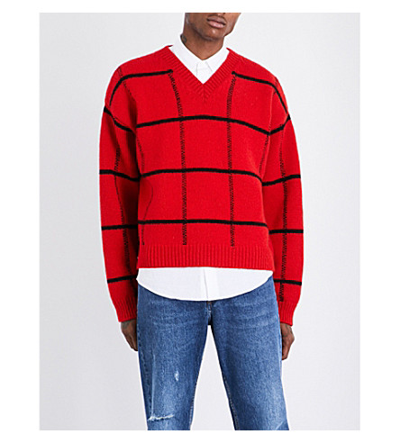 DRIES VAN NOTEN Taviano wool jumper (Red