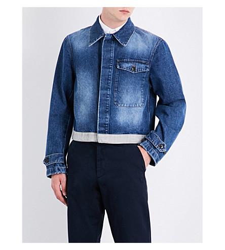 DRIES VAN NOTEN Vesper cropped denim jacket (Indigo