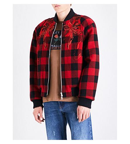 DRIES VAN NOTEN Volker reversible wool bomber jacket (Red+black