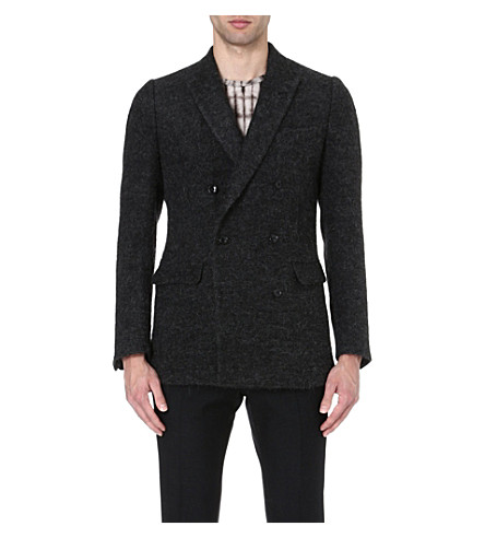 DRIES VAN NOTEN Baltimore wool-blend jacket (Anthracite
