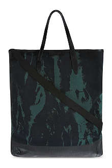 DRIES VAN NOTEN Tie dye canvas tote
