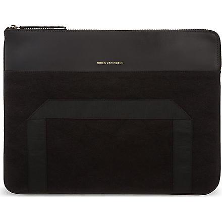 DRIES VAN NOTEN Zip top pouch (Black