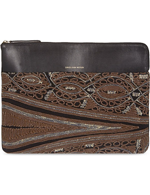 DRIES VAN NOTEN Embroidered iPad holder