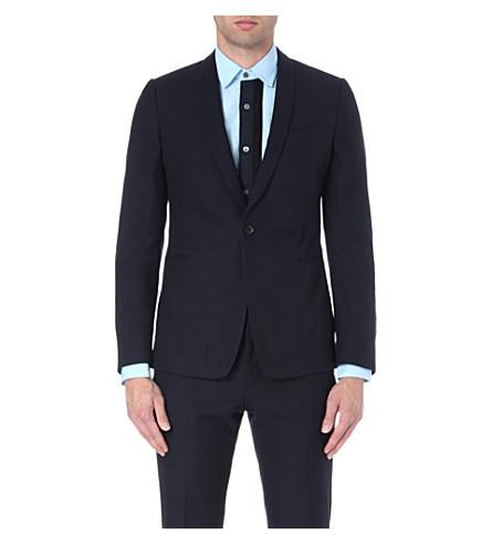DRIES VAN NOTEN Jaquard blazer (Navy