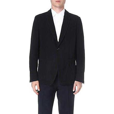 DRIES VAN NOTEN Branson contrast-panel blazer (Navy