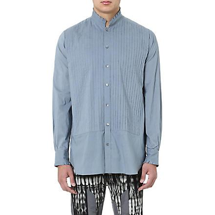 DRIES VAN NOTEN Pintuck smock shirt (Grey