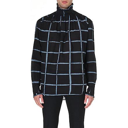DRIES VAN NOTEN Cedric Victorian cotton shirt (Navy