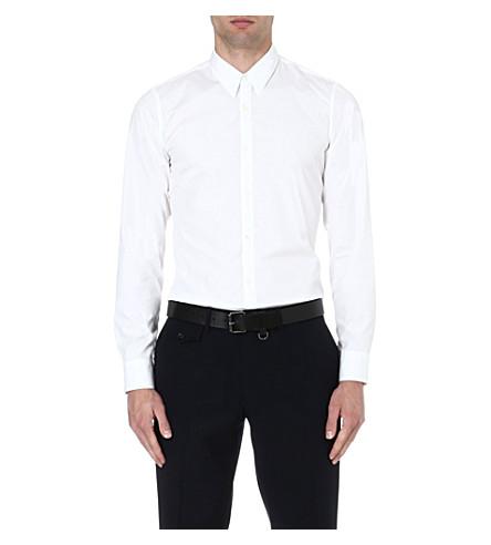 DRIES VAN NOTEN Cervi cotton-poplin shirt (White