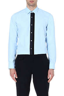 DRIES VAN NOTEN Chet grosgrain ruffle shirt