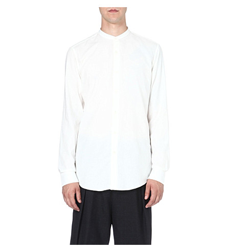 DRIES VAN NOTEN Grandad collar shirt (White