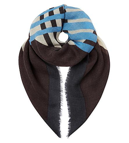 DRIES VAN NOTEN Chopped scarf (Blue