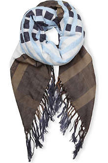 DRIES VAN NOTEN Fauns silk-blend scarf