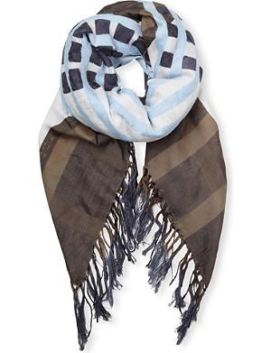 DRIES VAN NOTEN Fauns silk-blend scarf