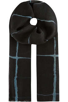 DRIES VAN NOTEN Windowpane check scarf