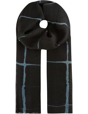 DRIES VAN NOTEN Windowpane check scarf