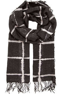 DRIES VAN NOTEN Windowpane scarf