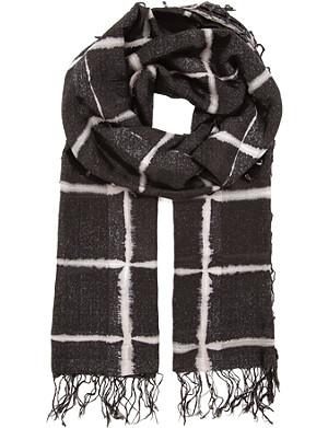 DRIES VAN NOTEN Windowpane scarf