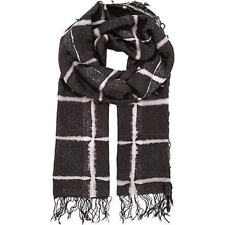 DRIES VAN NOTEN Windowpane scarf (White