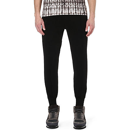 DRIES VAN NOTEN Hemby zip-cuff jogging bottoms (Black