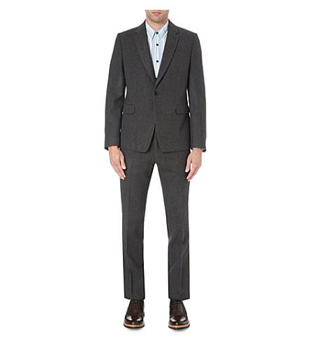 DRIES VAN NOTEN Slim-fit flannel suit (Grey