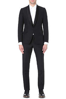 DRIES VAN NOTEN Satin lapel tuxe suit