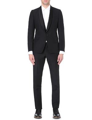 DRIES VAN NOTEN Satin lapel tuxe suit