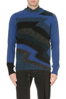 DRIES VAN NOTEN Magnet chevron knit jumper