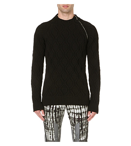 DRIES VAN NOTEN Manu zip-detailed jumper (Black