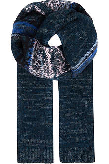 DRIES VAN NOTEN Glittering knitted scarf