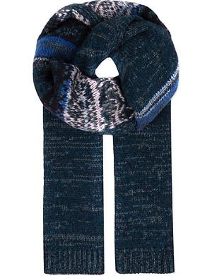 DRIES VAN NOTEN Glittering knitted scarf