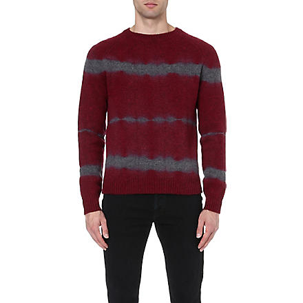 DRIES VAN NOTEN Miles tie-dye jumper (Burgandy