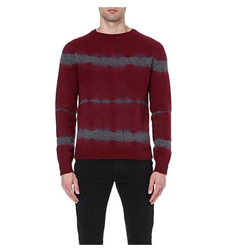 DRIES VAN NOTEN Miles tie-dye jumper (Burgandy