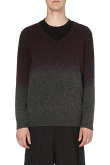 DRIES VAN NOTEN Milton dip-dye knitted jumper