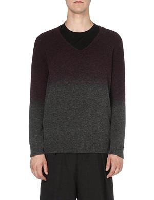 DRIES VAN NOTEN Milton dip-dye knitted jumper