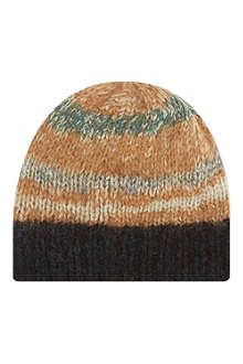 DRIES VAN NOTEN Fair Isle knit beanie