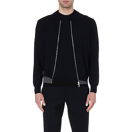 DRIES VAN NOTEN Morad wool bomber jacket (Navy