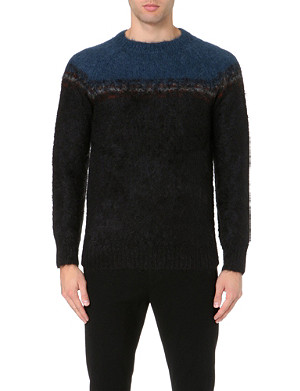 DRIES VAN NOTEN Fair Isle knitted jumper