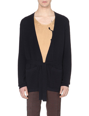 DRIES VAN NOTEN Houndstooth knitted cardigan