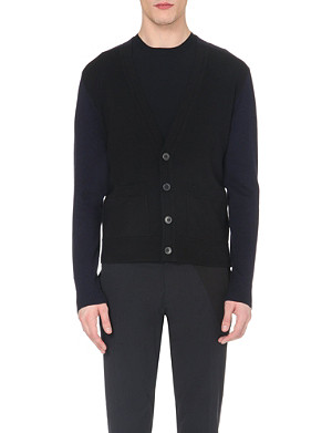 DRIES VAN NOTEN Colour-block cardigan